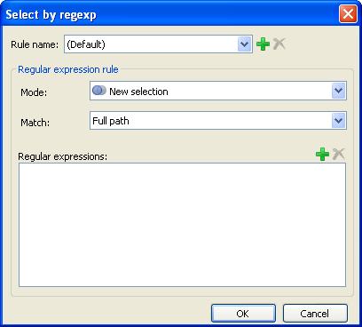 Select by regexp window